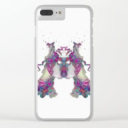 Inkdala XXII - Ink Blot Clear iPhone Case