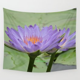 Blue Water Lilies in Hangzhou Wall Tapestry