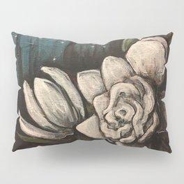 Night Bloom // Gardenia White Flower Stars Magnolia Abstract Painting Southern Garden Tree Plants Pillow Sham