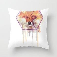 Bonjour Fox!! Throw Pillow