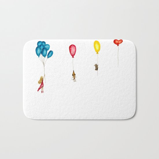 Flying to the dream world Bath Mat