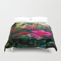 switzerland Duvet Covers featuring Flowers in Switzerland #2 by Heather Hartley