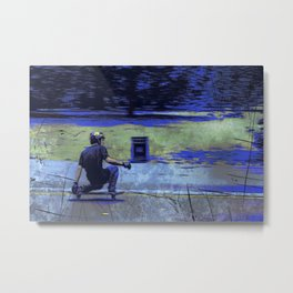 Just Cruisin'  - Skateboarder Metal Print