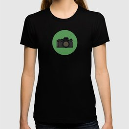 Retro Camera in Black T-shirt