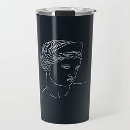 Aphrodite Minimalism Line Art - Dark Academia Inspired Travel Mug