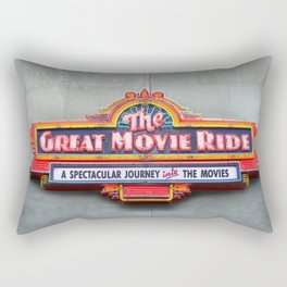 Original Art Photograph Great Movie Ride Neon Marquee Sign GMR Rectangular Pillow