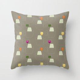 Tea time - Fabric pattern Throw Pillow