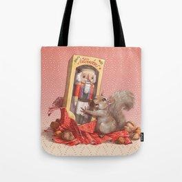 Nutcracker Squirrel Tote Bag