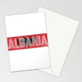 Albanian National Flag Gift Albania Country Vintage Design Stationery Cards