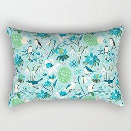Finally Easter! [blue'n rose] Rectangular Pillow