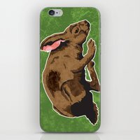 hare iPhone & iPod Skins featuring Hare by Skekfaer