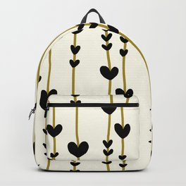 Hearts And Lines Pattern Backpack
