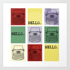 Classic Typewriter Art Print