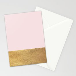 Color Blocked Gold & Rose Stationery Cards