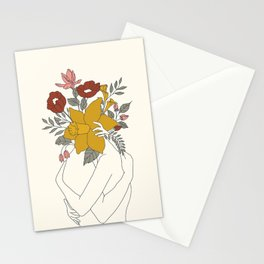 Colorful Blossom Hug Stationery Cards