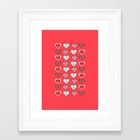 valentine Framed Art Prints featuring Valentine by Heaven7