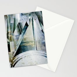 The Bars Within Abstract Metal Seascape Stationery Cards