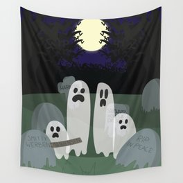 The Family that Spooks Together Stays Together Wall Tapestry
