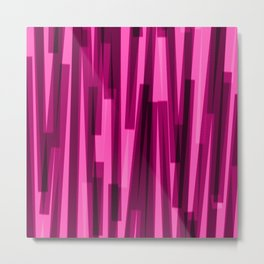 Geometric Pink Black Painting Metal Print