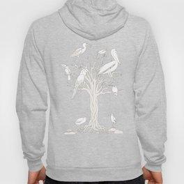 beige tree with birds Hoody