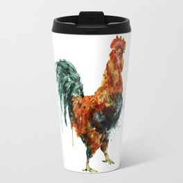 Rooster watercolor painting Travel Mug