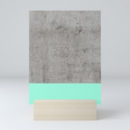Sea on Concrete Mini Art Print
