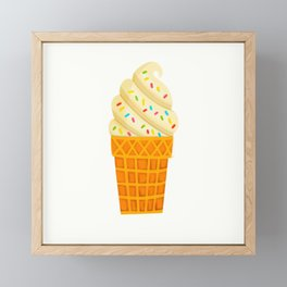 Ice Cream Cone Framed Mini Art Print