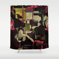 techno Shower Curtains featuring Techno puzzle by laly_sb