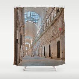 Abandoned Prison Corridor Shower Curtain