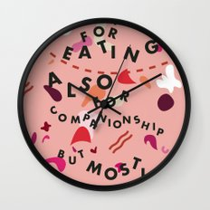 Pig Ate My Pizza Wall Clock