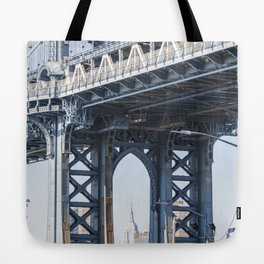 Manhattan Bridge Empire Blue Tote Bag