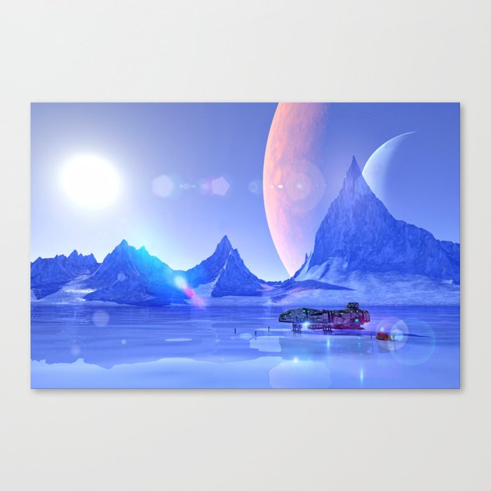 Exploring an Ice Planet Canvas Print
