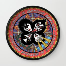 Knights In Satan's Service III Wall Clock