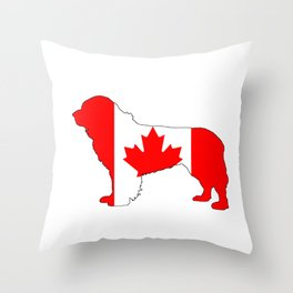 "Newfoundland Dog ""Canada"" Throw Pillow"