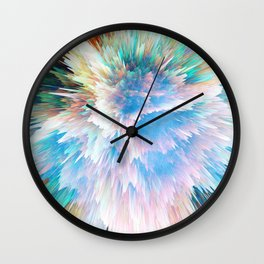Pastel Stalagmites Colliding in Space Cave Wall Clock
