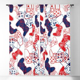 Video Games Red White & Blue 3 Blackout Curtain
