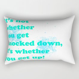 Getting up Rectangular Pillow