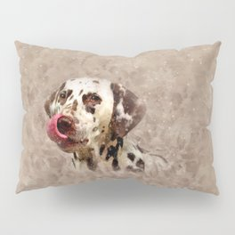 Watercolor Cute Dalmatian Pillow Sham