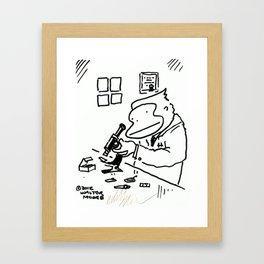Ape Scientist with Microscope Framed Art Print