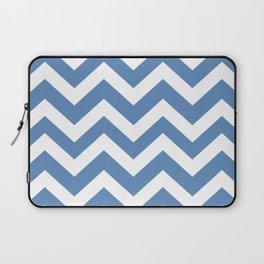 Silver Lake blue - blue color - Zigzag Chevron Pattern Laptop Sleeve