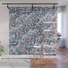 black topography Wall Mural