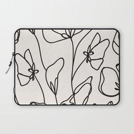 Floral Line Art art, interior, matisse, picasso, drawing, decor, design, bauhaus, abstract, decorati Laptop Sleeve
