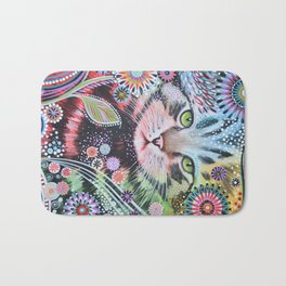 Abstract Cat Art - Penny Bath Mat