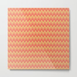 Simple chevron pattern shaded from brilliant orange to yellow Metal Print