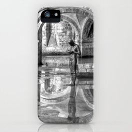 Winchester Cathedral Crypt - Black and White iPhone Case