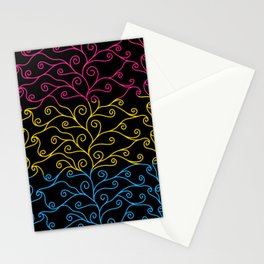 Swirls and Silk - Pansexual Flag Stationery Cards
