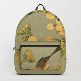Bird in Ginkgo Tree Backpack