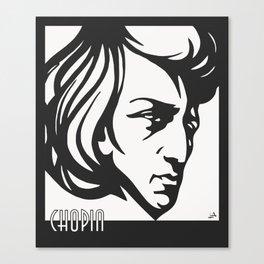 Art Deco style Chopin Canvas Print