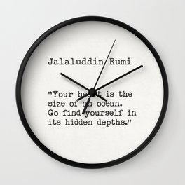 Rumi quote Wall Clock