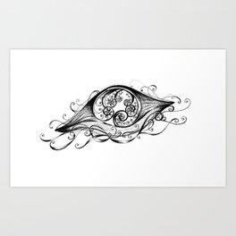 Floating Jellyfish Art Print